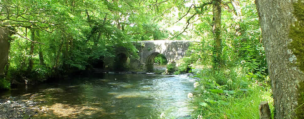 Bridge over the Lynher river in St Mellion Parish